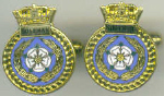 Cuff links - HMS SOLEBAY
