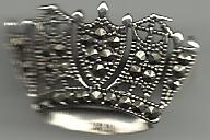7100-0 Marcasite Crown Brooch