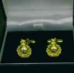 Cuff Links - Royal Marines Cap Badge Brass